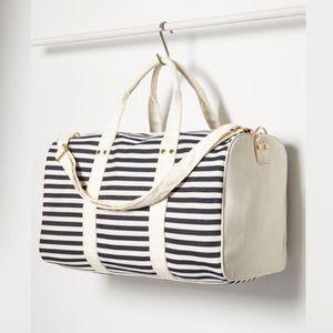 FOREVER 21 | Blue Striped Canvas Weekender Bag